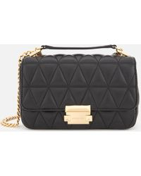 1a90ef4334c3 MICHAEL Michael Kors - Pyramid Quilted Chain Shoulder Bag - Lyst