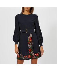 Ted Baker - Silia Kirstenbosch Embroidered Dress - Lyst