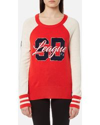 Superdry - Team Sd Varsity Knitted Jumper - Lyst