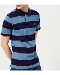 GANT - Barstripe Pique Polo Shirt - Lyst