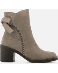 UGG - Fraise Whipstitch Suede Heeled Ankle Boots - Lyst