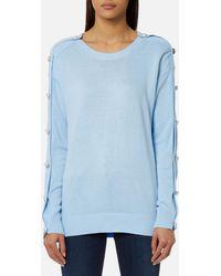 Michael Kors - Michael Women's Gem Button Sweatshirt - Lyst