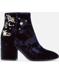 Ash - Elixir Velvet Heeled Ankle Boots - Lyst