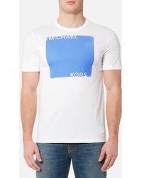 Michael Kors - Men's Colourfield Square Logo Tshirt - Lyst