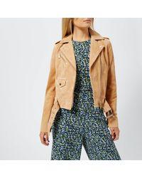 MICHAEL Michael Kors - Classic Suede Moto Jacket - Lyst