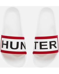 HUNTER - Slide Sandals - Lyst