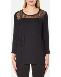 SELECTED - Mussa Lace Top - Lyst