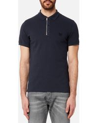 39a02c3f Lyst - DIESEL T-hamal Cotton Polo in Red for Men