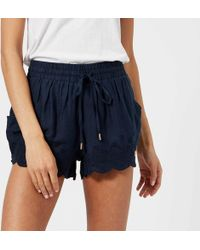 Superdry - Jenna Embroidered Edge Shorts - Lyst