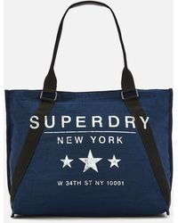 3f9d0b52e2ee Lyst - Superdry Athletic League Canvas Tote Bag in Natural