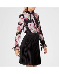 Ted Baker - Daysea Iguazu Frill Bow Sleeved Dress - Lyst
