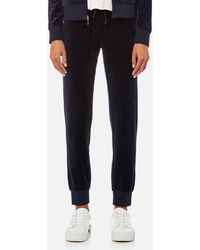 Juicy Couture - Track Velour Zuma Pants - Lyst