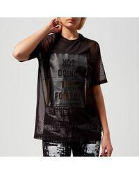 Reebok - Graphic Mesh Short Sleeve T-shirt - Lyst