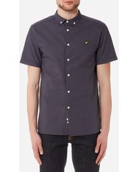 Lyle & Scott Short Sleeve Garment Dye Oxford Shirt