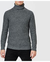 Ted Baker - Singo Chunky Roll Neck Knitted Jumper - Lyst