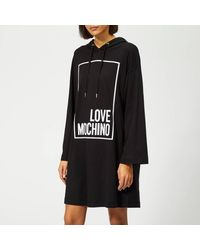 Love Moschino Logo Box Sweater Dress - Black