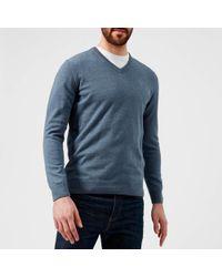 Barbour - Pima Cotton V-neck Knitted Jumper - Lyst