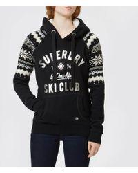 Superdry - Dakota Fairisle Hoody Sweater - Lyst