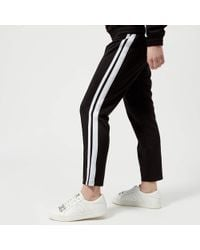 Juicy Couture - Stripe Tricot Cropped Trackpants - Lyst