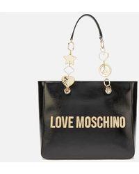 Love Moschino Logo Charm Tote - Black