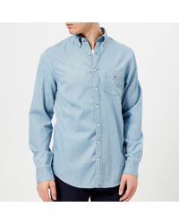 GANT - Indigo Regular Button Down Shirt - Lyst