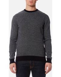 Barbour - Calvay Crew Knitted Jumper - Lyst