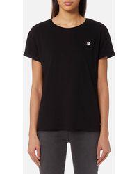 Maison Scotch - Felix Ams Blauw Basic T-shirt - Lyst