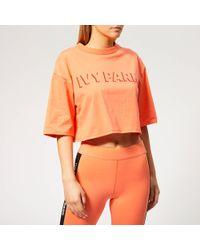 Ivy Park - Logo Crop Shorts Sleeve T-shirt - Lyst
