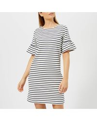 Joules - Sienna Fluted Sleeve Jersey Dress - Lyst