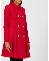 Ted Baker - Blarnch Scallop Trim Wool Coat - Lyst