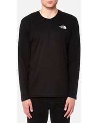 The North Face - Long Sleeve Easy T-shirt - Lyst