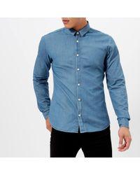 HUGO - Ero Long Sleeve Shirt - Lyst