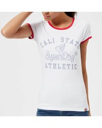 Superdry - State Athletic Ringer Entry T-shirt - Lyst