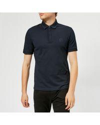 Armani Exchange - Waffle Collar Slim Polo Shirt - Lyst