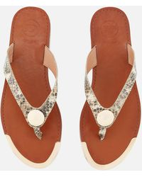 Dune - Lagos Leather Toe Post Sandals - Lyst