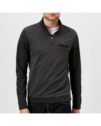 Ted Baker - Hownd Half Zip Knitted Jumper - Lyst