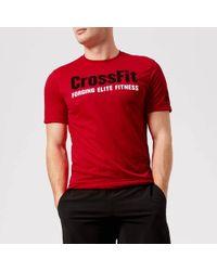Reebok - Crossfit Primal Red Short Sleeve T-shirt - Lyst