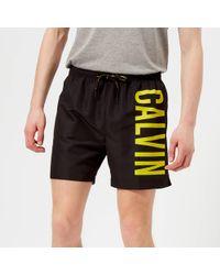 Calvin Klein - Logo Swim Shorts - Lyst