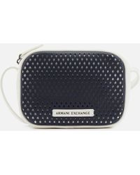 Armani Exchange - Perforated Cross Body Bag - Lyst