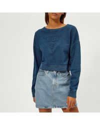 Guess - Indigo Fleece - Lyst