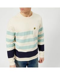 Lyle & Scott - Stripe Sweatshirt - Lyst