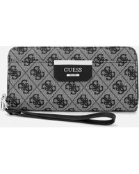 Guess - Large Zip Around Wallet - Lyst