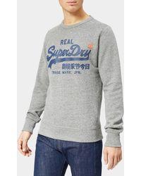 Superdry - Vintage Logo Panel Stripe Crew Neck Sweatshirt - Lyst