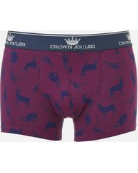 Joules - Animal Printed Boxer Shorts - Lyst