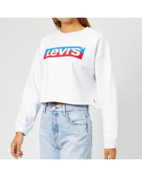 Levi's - Graphic Raw Cut Crew Jumper - Lyst