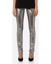 Versace Jeans - Metallic Trousers - Lyst