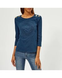 Guess - Crew Neck Trademark Knitted T-shirt - Lyst