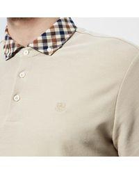 Aquascutum - Men's Coniston Cc Collar Short Sleeve Polo Shirt - Lyst