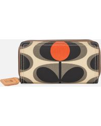 Orla Kiely - Canvas Flower Stem Print Big Zip Wallet - Lyst
