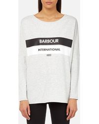 Barbour - Women's Pathhead Logo Sweatshirt - Lyst